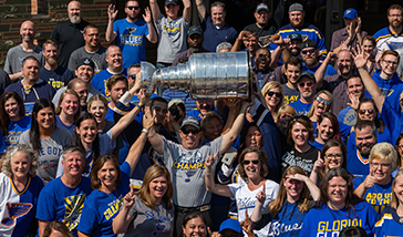 LUXCO TEAM HOISTS THE STANLEY CUP